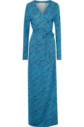 DIANE VON FURSTENBERG New Julian floral-print silk-jersey maxi wrap dress