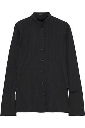 ETRO Pintucked cotton-poplin shirt