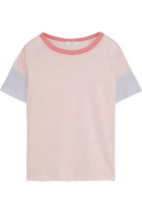 RAG & BONE Payton color-block slub linen T-shirt