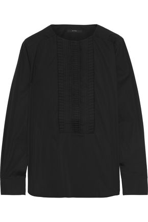 ETRO Pleated cotton-poplin top