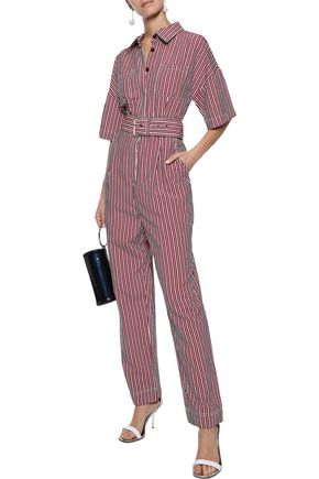 0cd253ad3da DIANE VON FURSTENBERG Belted striped poplin jumpsuit