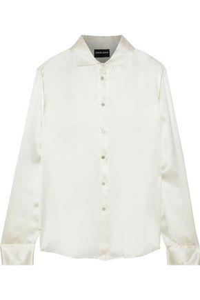 GIORGIO ARMANI Silk-satin shirt
