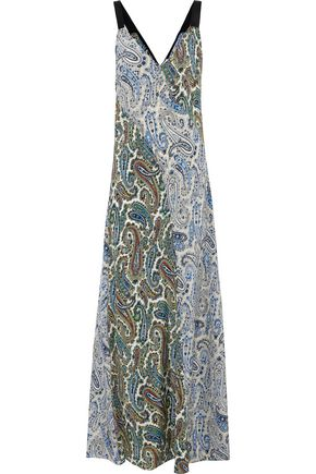 DIANE VON FURSTENBERG Paneled printed silk maxi dress