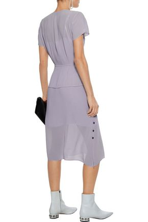 RAG & BONE McCormick button-detailed crepe de chine midi dress