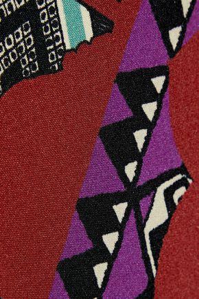 ETRO Wrap-effect printed silk-blend mini dress