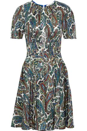 DIANE VON FURSTENBERG Barton metallic printed silk-blend dress