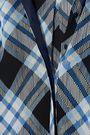 DIANE VON FURSTENBERG Belted checked silk crepe de chine shirt dress