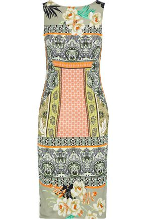 ETRO Printed stretch-cady dress