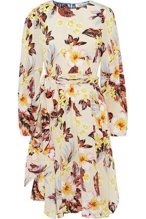 DIANE VON FURSTENBERG Belted printed silk crepe de chine dress