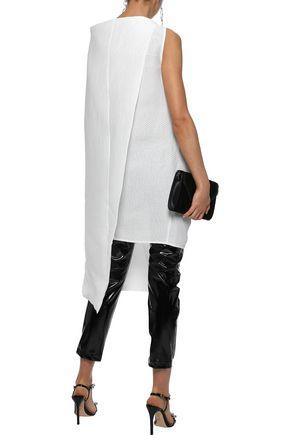 RICK OWENS Draped paper-blend cloqué tunic