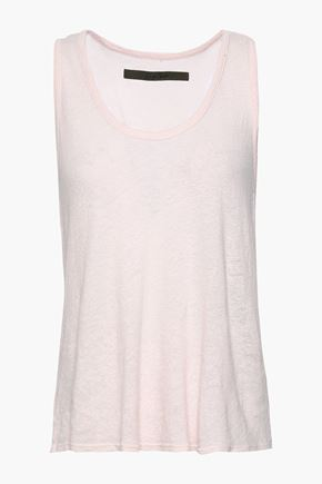 ENZA COSTA Slub hemp and cotton-blend jersey tank