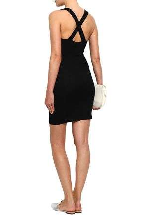 ENZA COSTA Ribbed stretch cotton and modal-blend mini dress