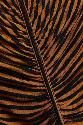 ENZA COSTA Cutout hemp and cotton-blend jersey top