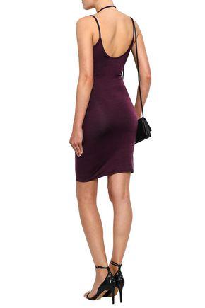 ENZA COSTA Ruched stretch-jersey mini dress