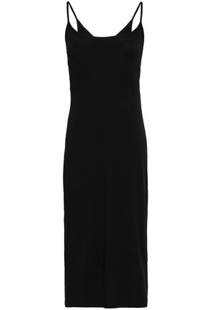 ENZA COSTA Twist-back cutout stretch-jersey dress