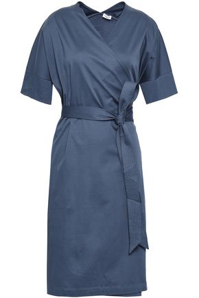 FILIPPA K Cotton-jersey midi wrap dress