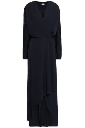 FILIPPA K Wrap-effect crepe de chine maxi dress
