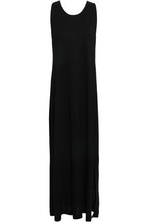 FILIPPA K Twist-back mélange jersey maxi dress