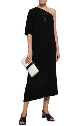 FILIPPA K One-shoulder asymmetric stretch-jersey midi dress