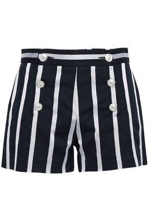 JUST CAVALLI Striped cotton-blend shorts