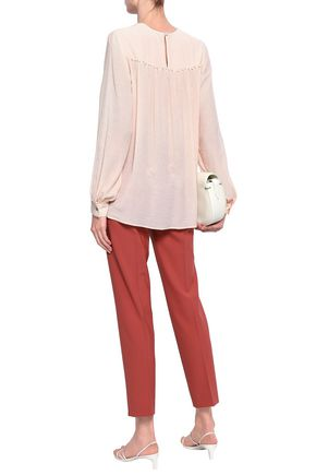 FILIPPA K Gathered georgette blouse