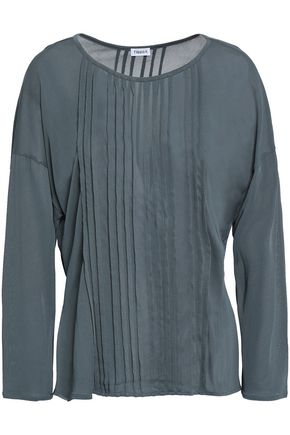 FILIPPA K Pintucked jersey top