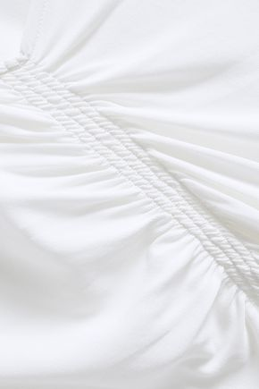 FILIPPA K Asymmetric ruched stretch-jersey top