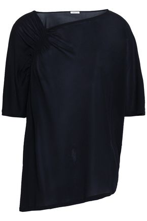 FILIPPA K Asymmetric ruched stretch-jersey top