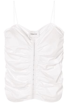 GEORGIA ALICE Ruched cotton top