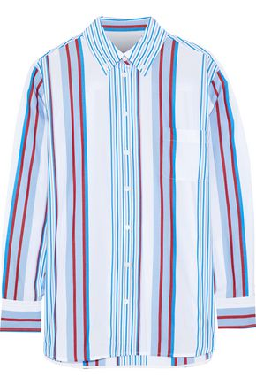 EQUIPMENT Striped cotton-poplin shirt