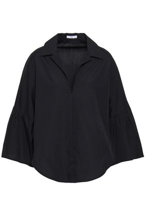 TOME Gathered cotton-poplin shirt
