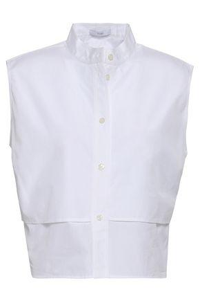TOME Layered cotton-poplin shirt
