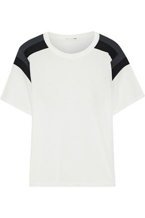 RAG & BONE Paneled Pima cotton-jersey T-shirt