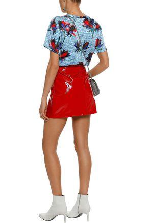 EQUIPMENT Hana floral-print washed-silk T-shirt