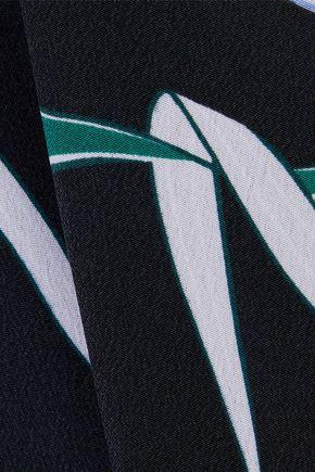 EQUIPMENT Tira asymmetric printed washed-silk shirt dress