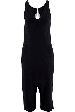 RICK OWENS Tuta cropped crepe jumpsuit
