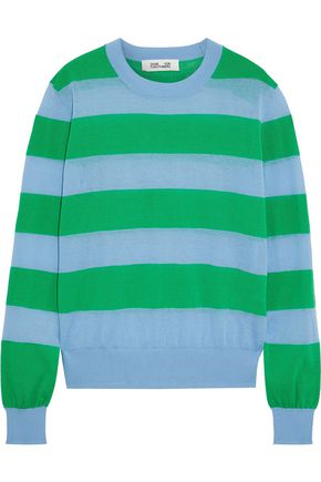DIANE VON FURSTENBERG Striped cotton-blend sweater