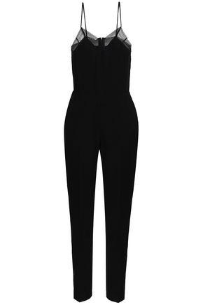 IRO Lace-trimmed crepe jumpsuit