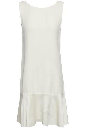THEORY Kensington flared crepe-satin mini dress