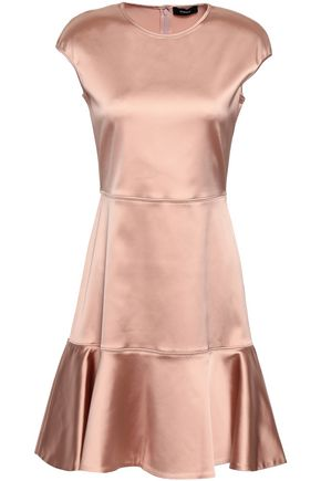 THEORY Fluted satin mini dress