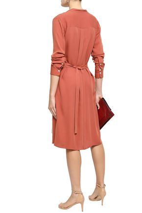 THEORY Effortless silk shirt dress