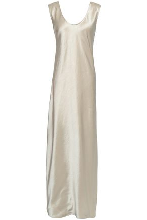 THEORY Draped satin gown