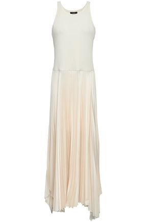 THEORY Vinessi Belsay stretch-jersey and satin-crepe maxi dress