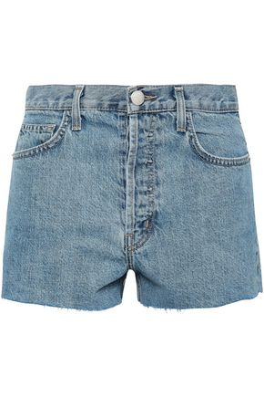 CURRENT/ELLIOTT Frayed denim shorts