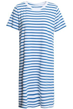 CURRENT/ELLIOTT Striped cotton-jersey mini dress