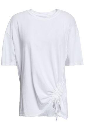 CURRENT/ELLIOTT Ruched cotton-jersey T-shirt