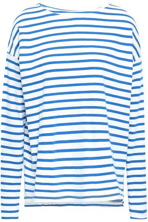 CURRENT/ELLIOTT Striped cotton-jersey top