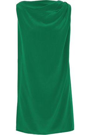 RICK OWENS Draped washed-silk tunic