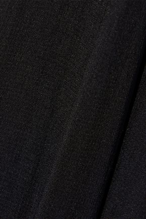 ELIE TAHARI Jilly studded chiffon-paneled satin-crepe mini dress