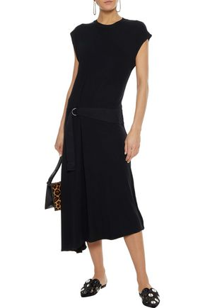 RAG & BONE Ophelia asymmetric gathered stretch-jersey midi dress